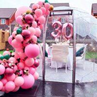 30th Birthday Pink Balloon Arch