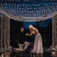 Elle Darby Engagement Fairy Light Tunnel